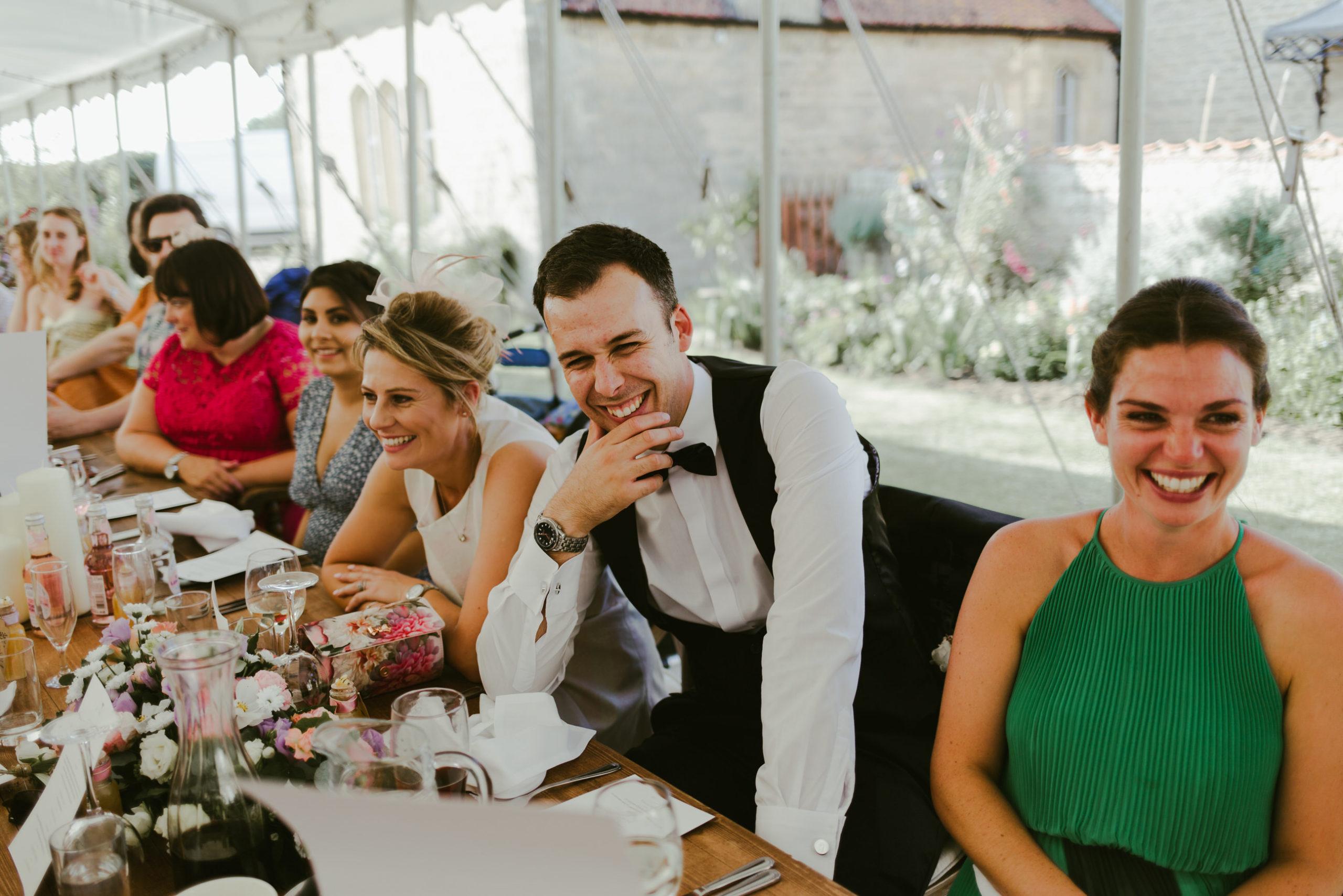 summer wedding back garden party marquee speeches