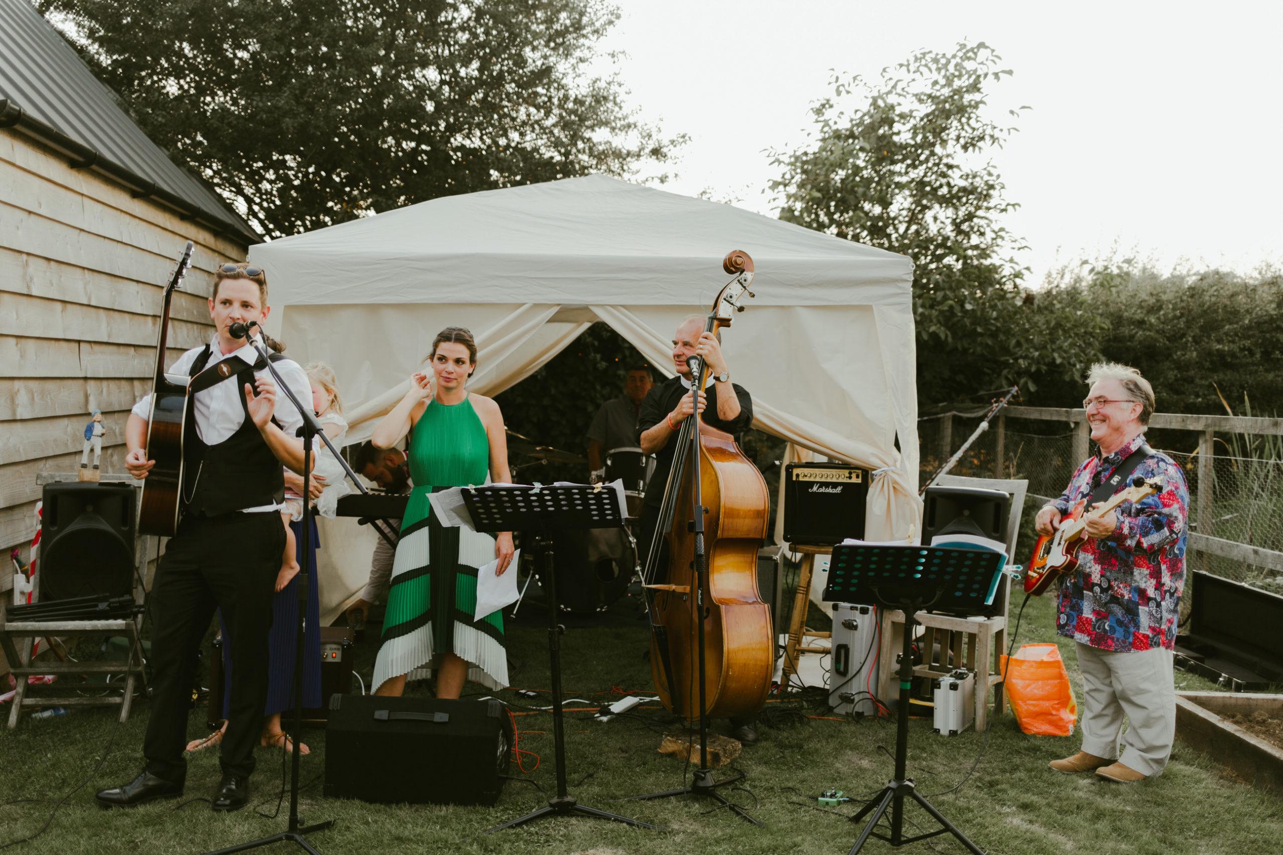 wedding garden party fun dance floor live band