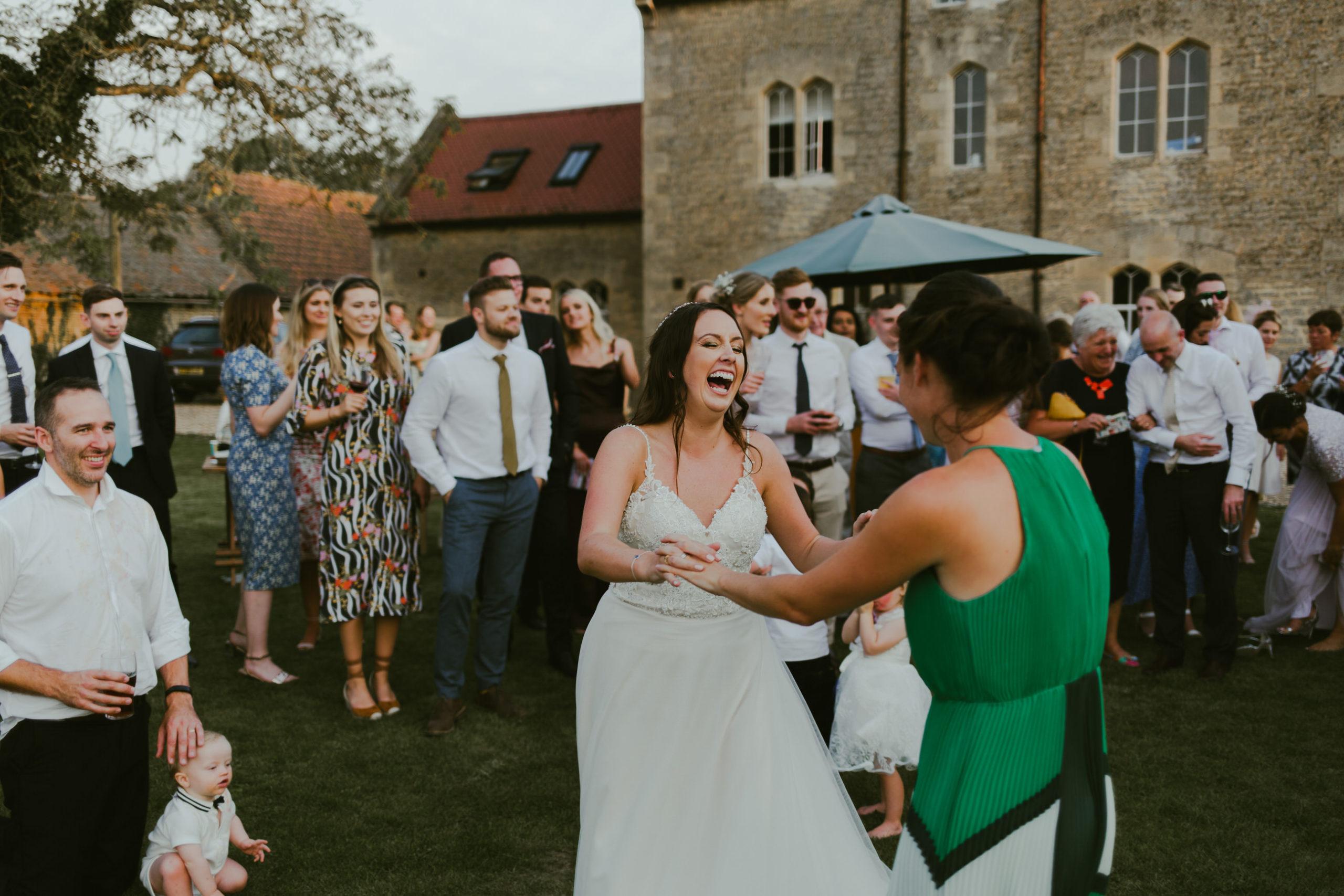 wedding garden party fun dance floor