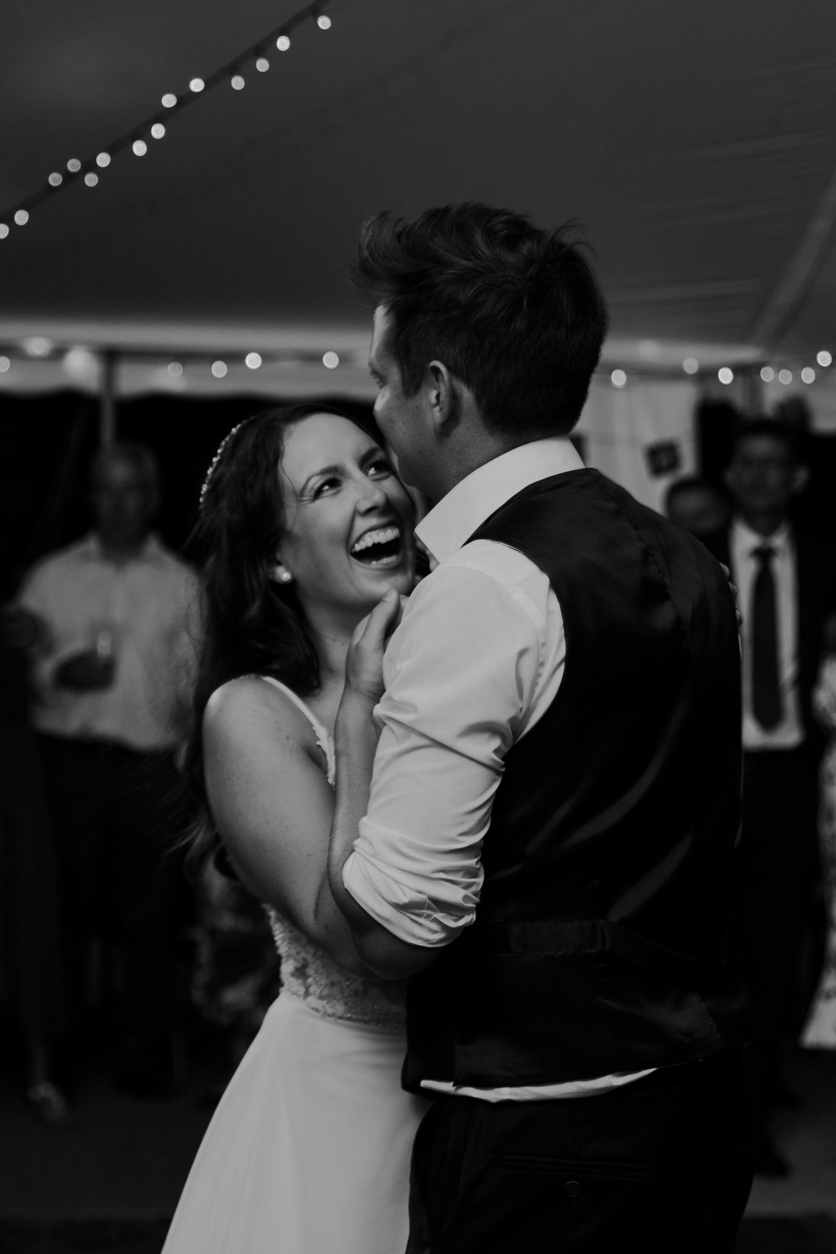 wedding party dance floor bride groom love dancing