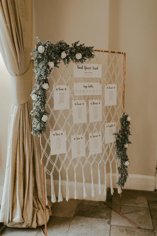farnham castle wedding details stationery table plan