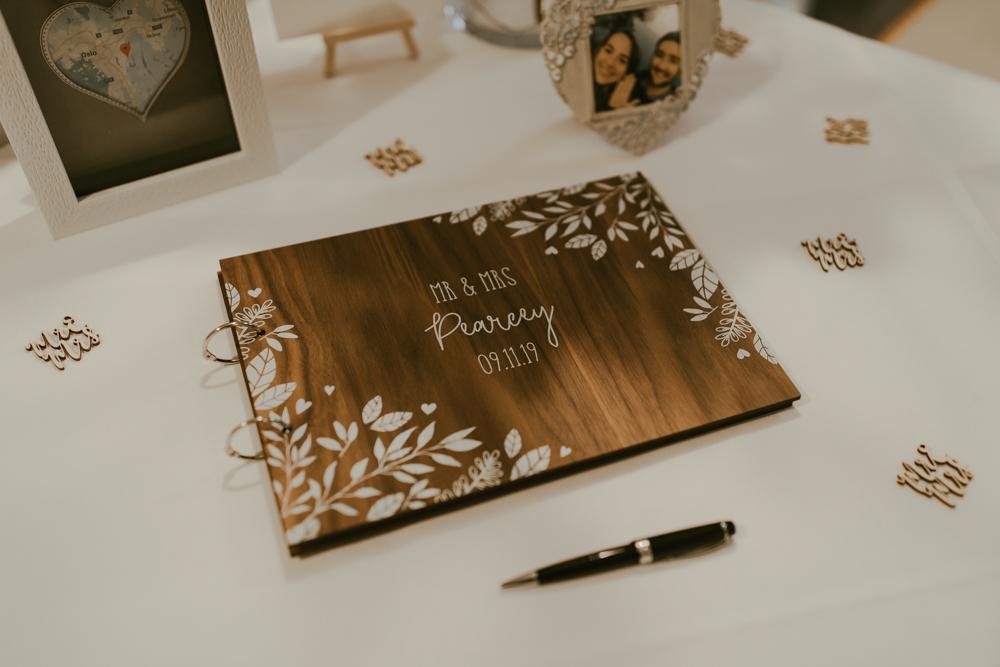 farnham castle wedding details guest book stationery