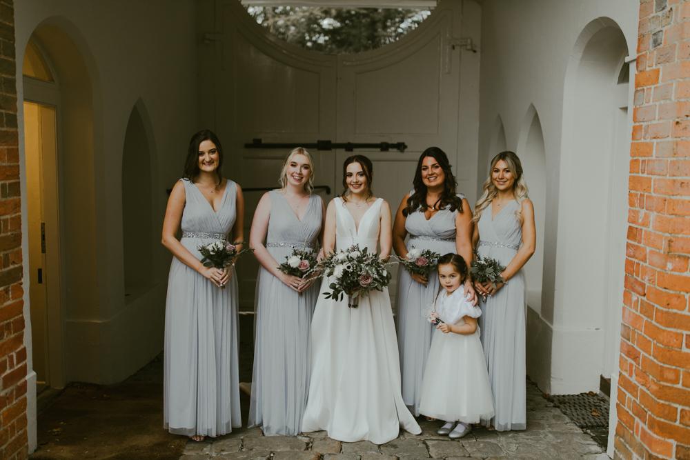 farnham castle bride and bridesmaids bridal party the gatehouse