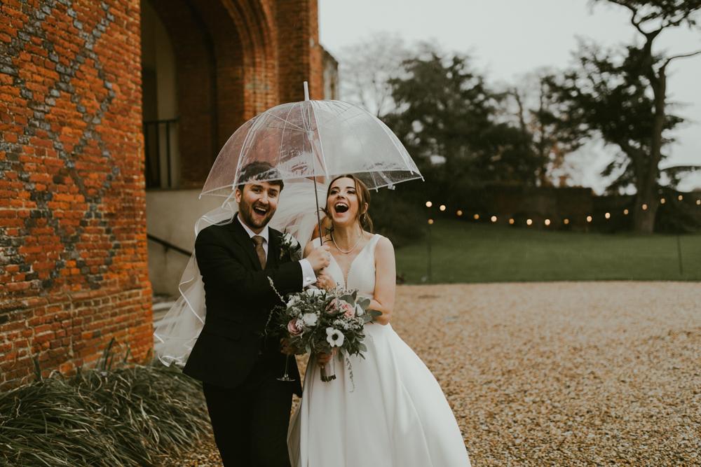 farnham castle weddings bride and groom winter wedding