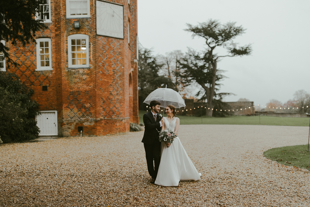 Claire & Matt – Romantic, Rainy Wedding at Farnham Castle – November 2019