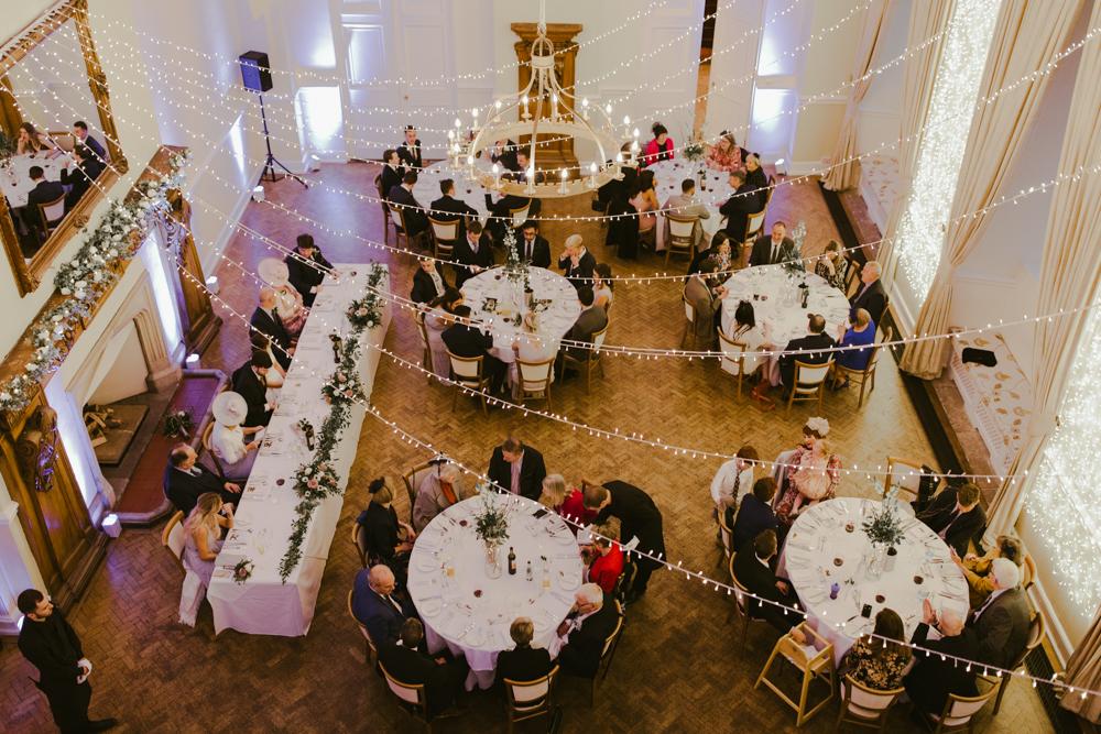 farnham castle wedding breakfast great hall dining