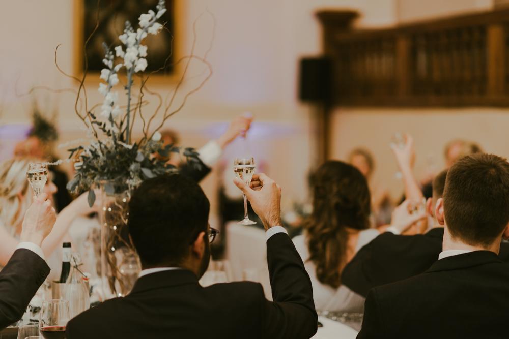 wedding speeches toast cheers farnham castle weddings