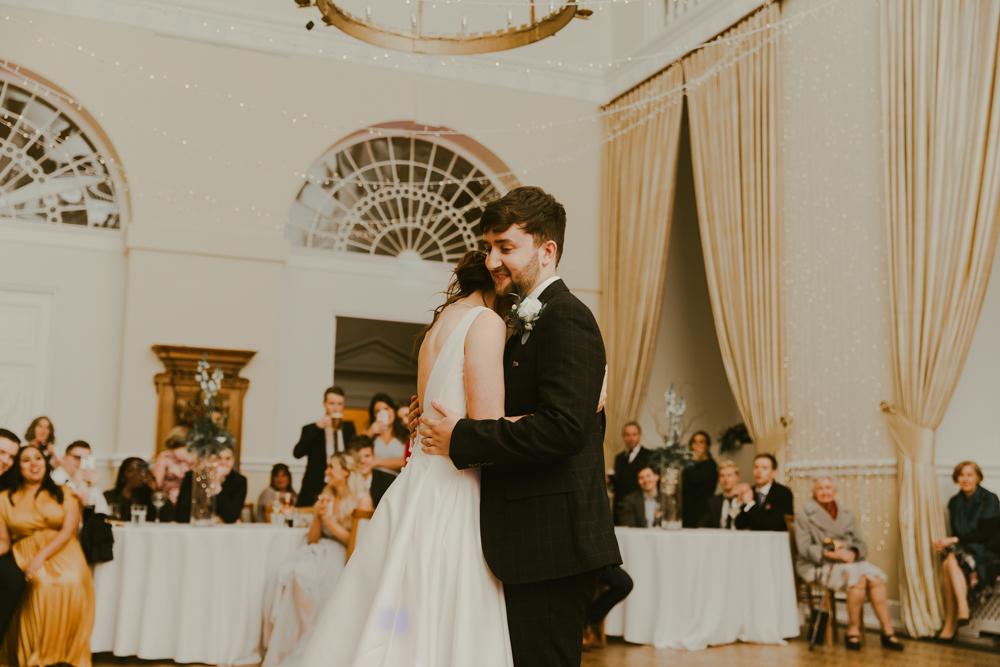 first dance at Farnham castle wedding in Surrey