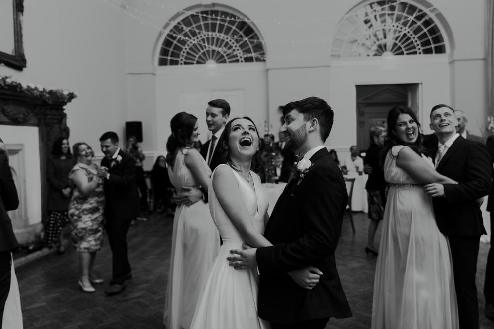 wedding party first dance at Farnham castle