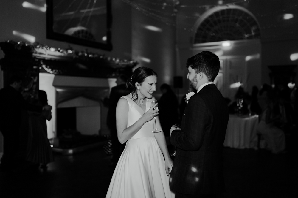 wedding at Farnham castle bride and groom on the dance floor